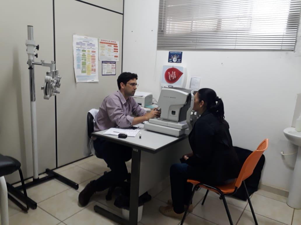 Saúde está disponibilizando atendimento especializado em Oftalmologia para a população,