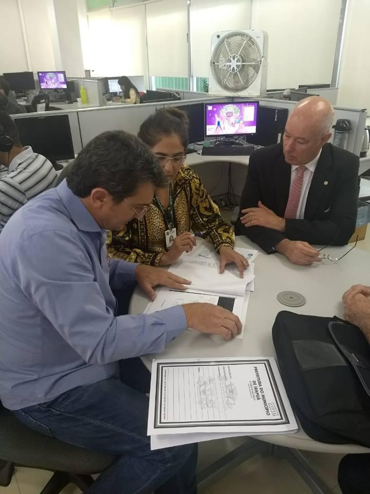 PREFEITO HAROLDO VIAJOU PARA BRASÍLIA EM BUSCA DE RECURSOS E REGULARIZAÇÃO DE CONVÊNIO.