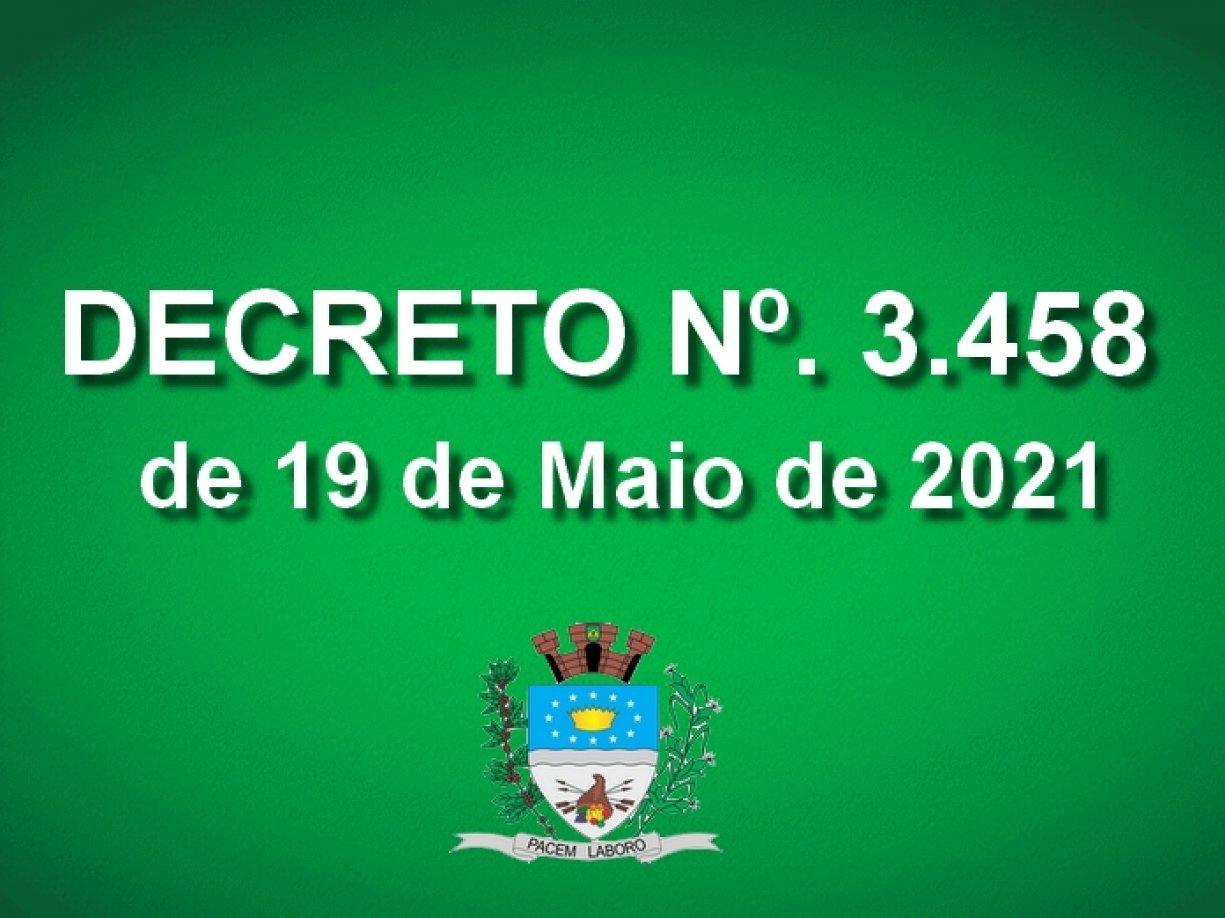 Decreto 3.458 de 19 de Maio de 2021