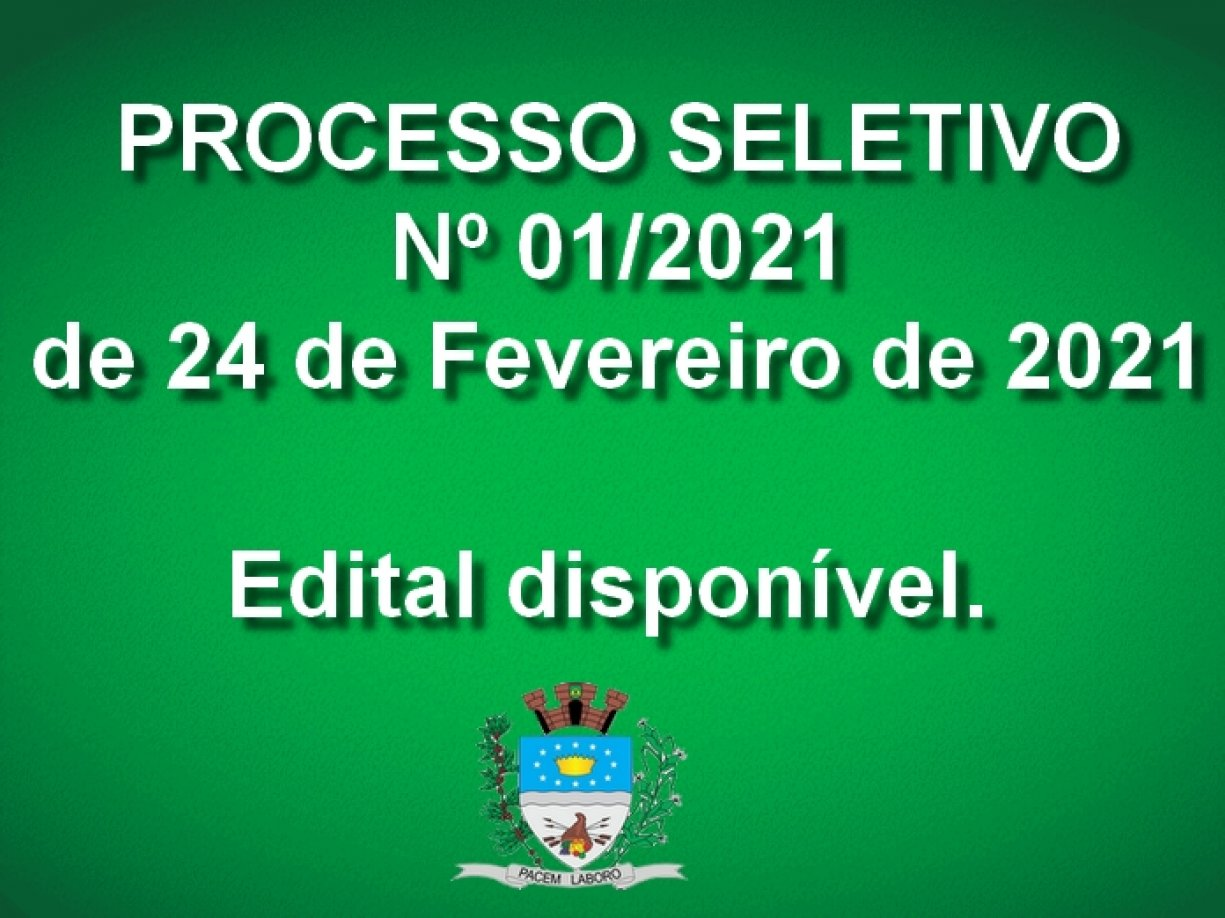 Processo Seletivo nº 001/2021