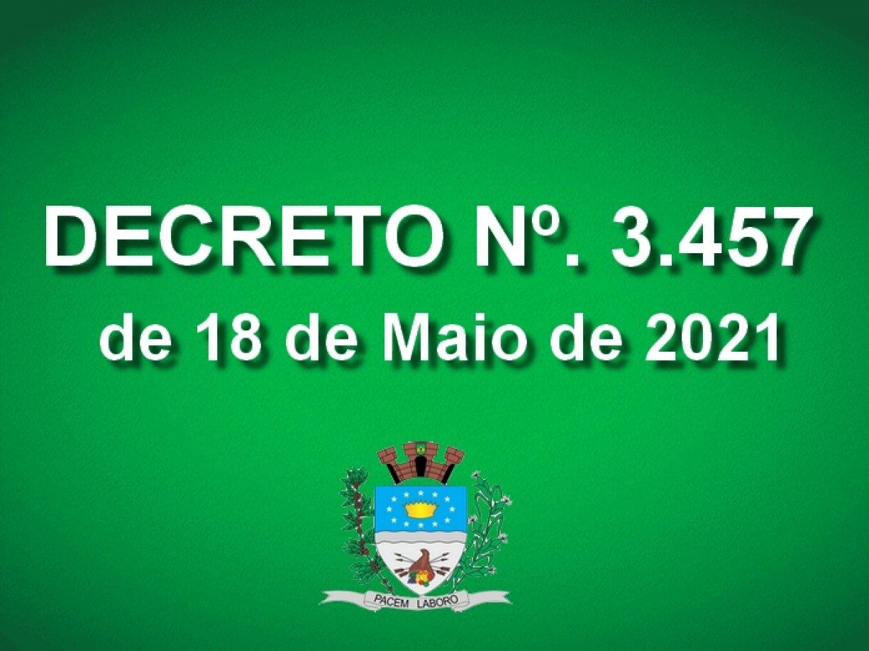 Decreto 3.457 de 18 de Maio de 2021