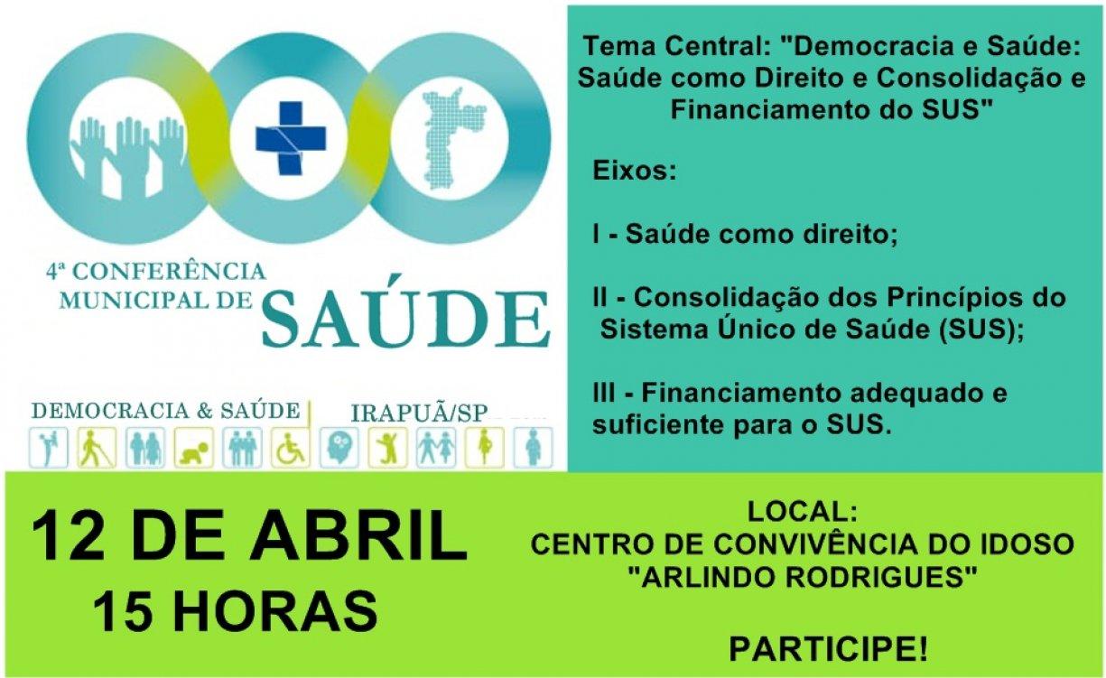 4ª CONFERÊNCIA MUNICIPAL DE SAÚDE