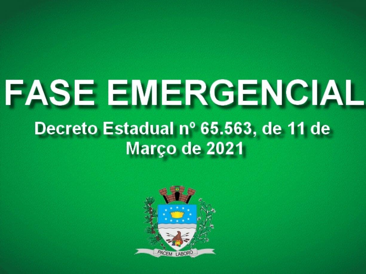 FASE EMERGENCIAL EM IRAPUÃ
