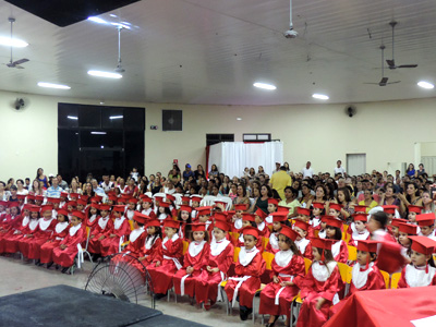 Solenidade de encerramento dos alunos da Pré-Escola da EMEI
