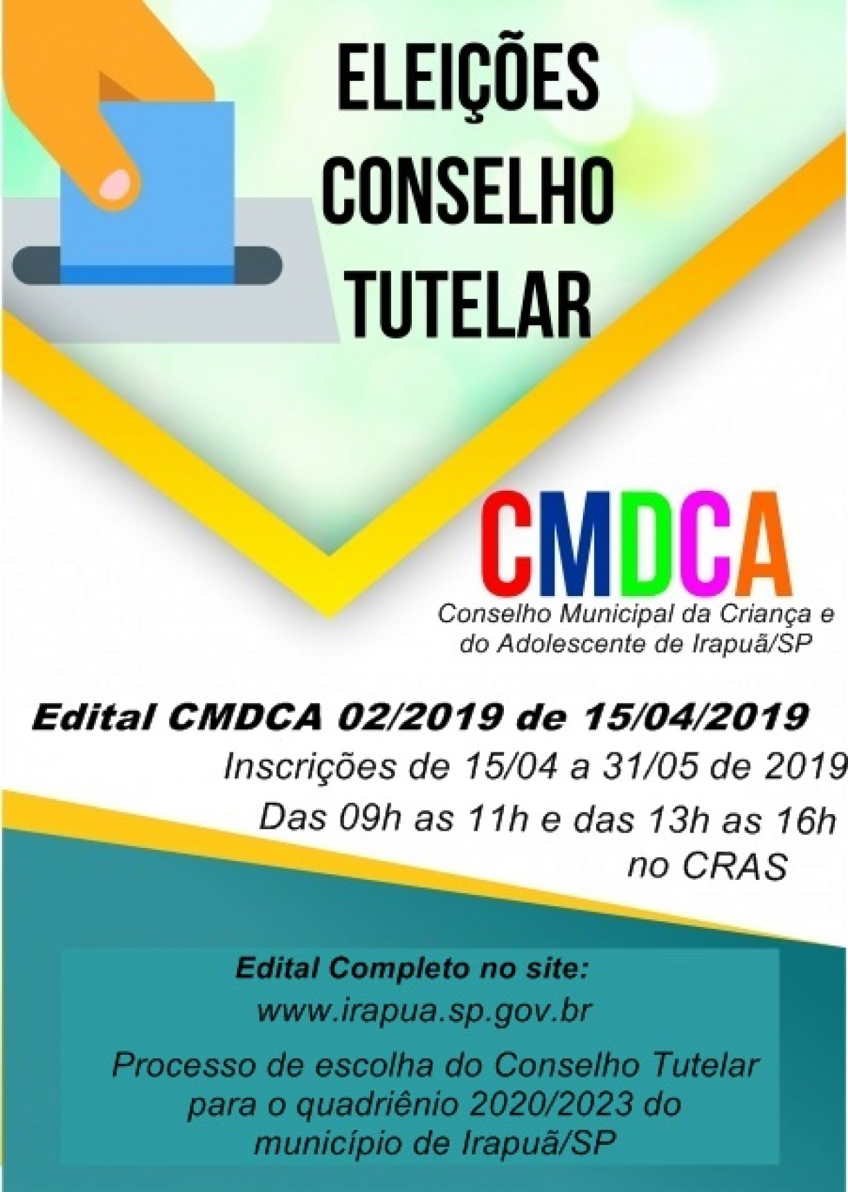 ELEIÇÃO PARA CONSELHO TUTELAR - QUADRIÊNIO 2020/2023