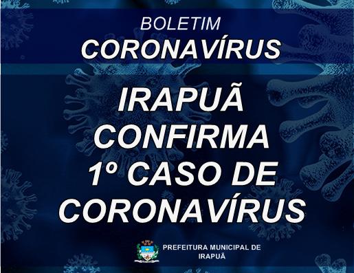 Irapuã confirma primeiro caso de COVID-19