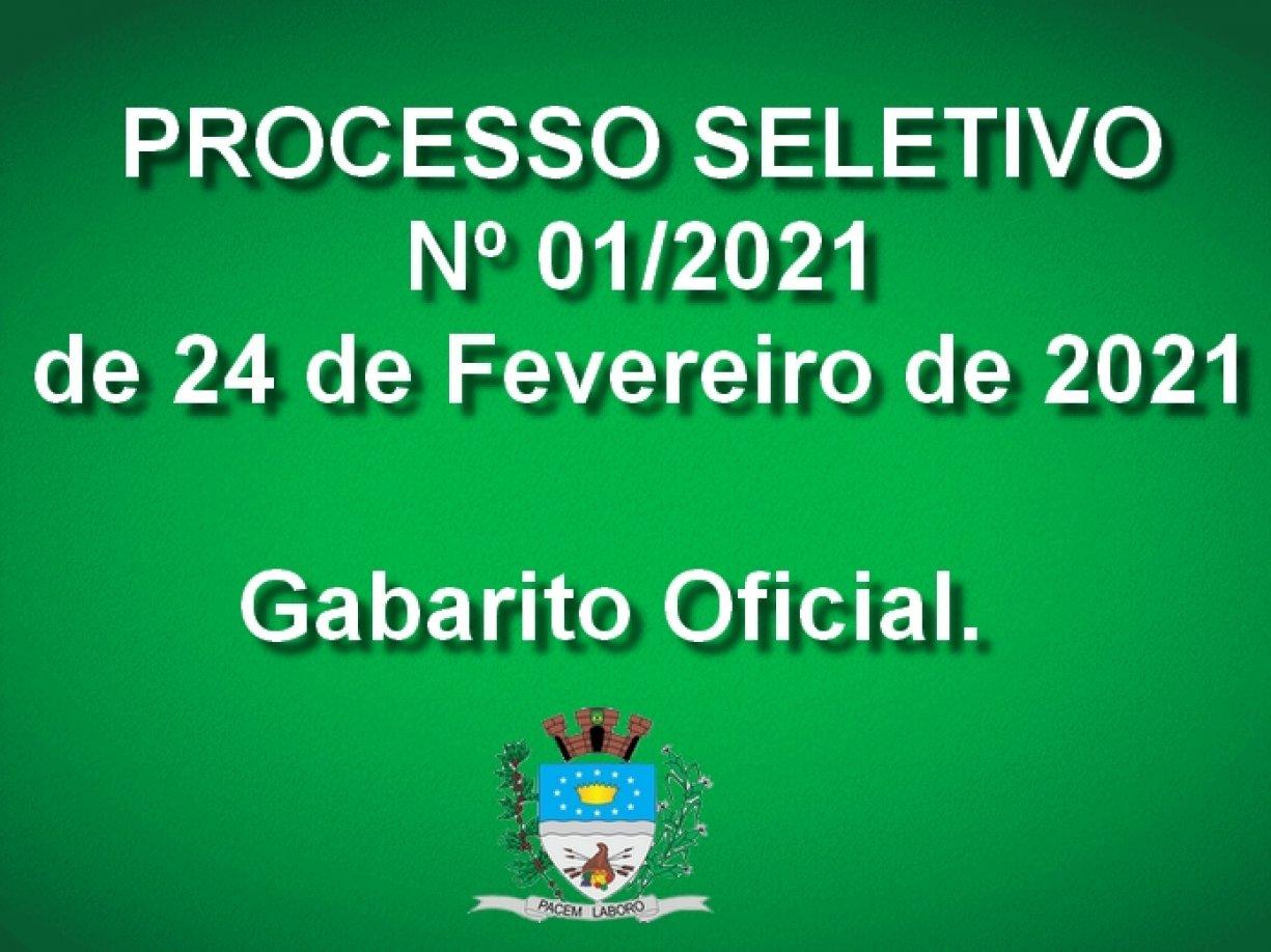 Processo Seletivo nº 001/2021 - Gabarito Oficial