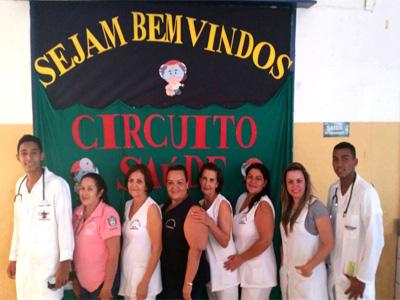 "A Unidade Básica de Saúde de Irapuã participou do Circuito da Saúde no Programa Escola da Família da escola EE ""Desolina Betti Gregorin"""
